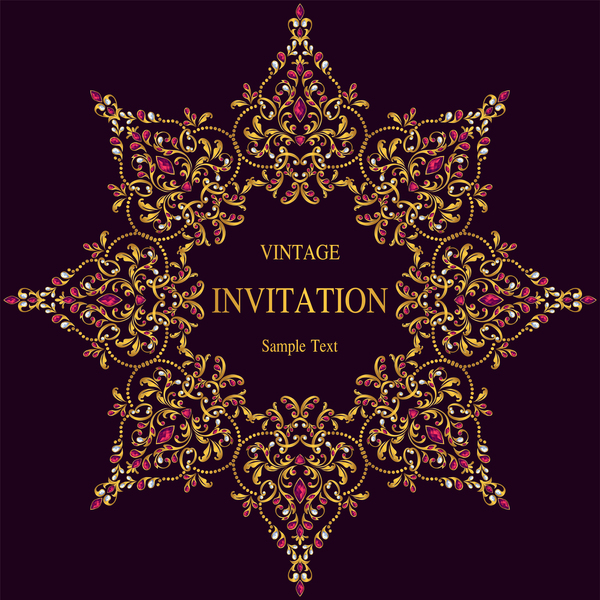 vintage invitation carte