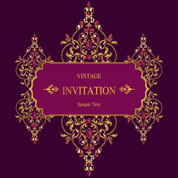 vintage invitation carte