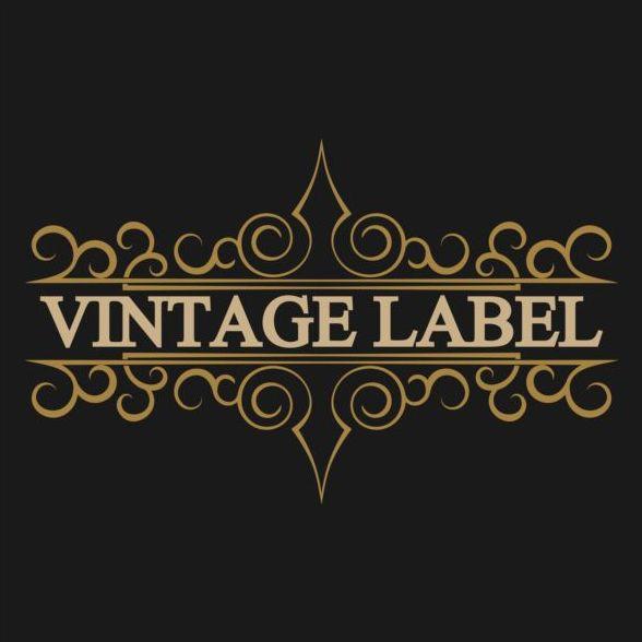 vintage Noirs étiquettes