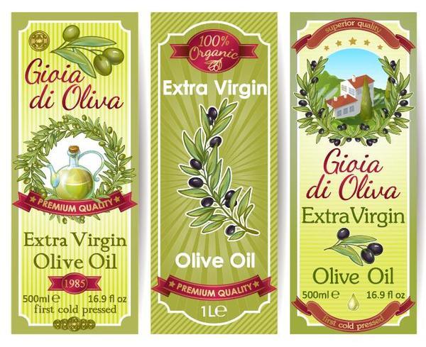 vintage olja oliv klistermärke banner