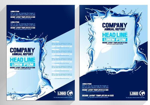 vatten täcka Plaska broschyr