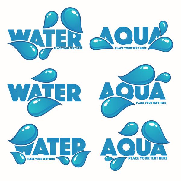 vatten logotyper aqua
