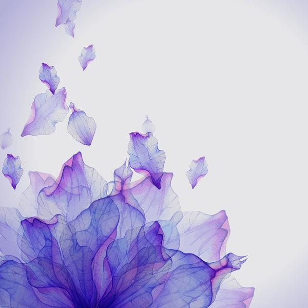 Traum Blütenblatt Blume aquarell