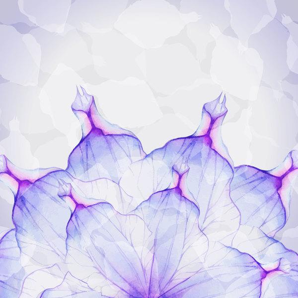 花びら 花 水彩画 夢