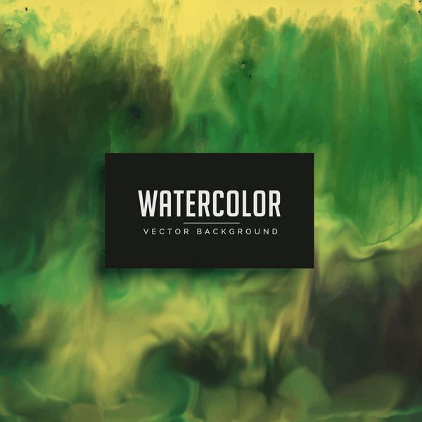 流れる 水彩画