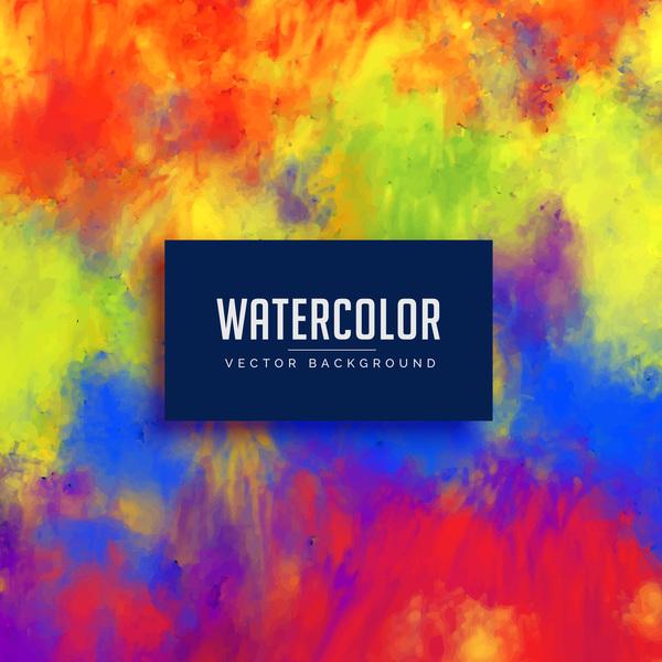 watercolor flowing