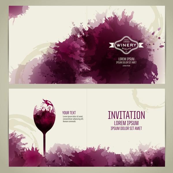 style invitation carte Aquarelle