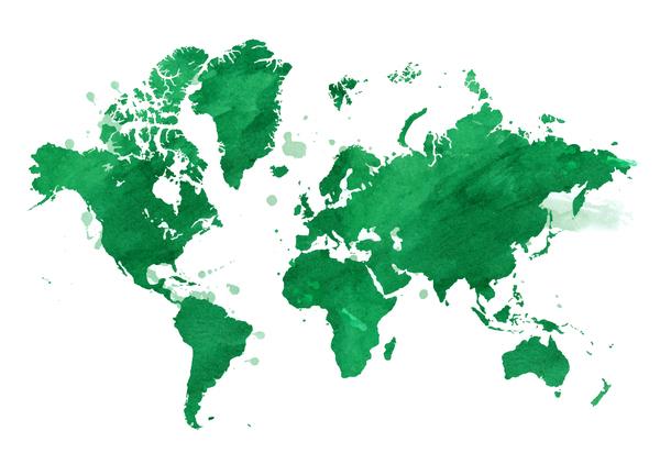 mondo dell'acquerello Mappa
