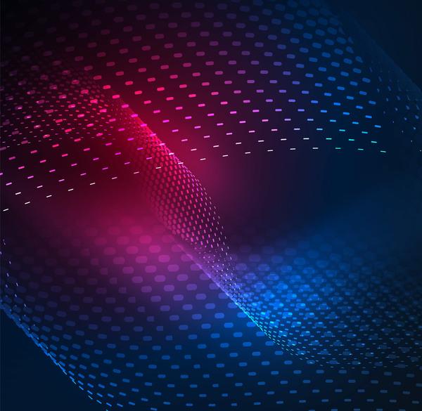 vågig partiklar Effekt Abstrakt