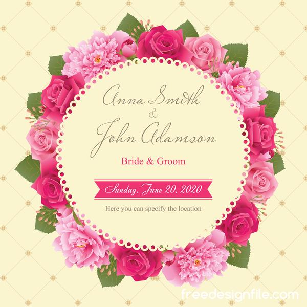 Rosen Rosa Pfingstrose Karte Hochzeit