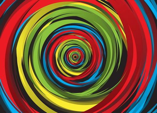 Wirbel Farbe Abstrakt