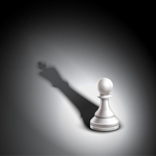 pieces Jeu d'échecs blancs