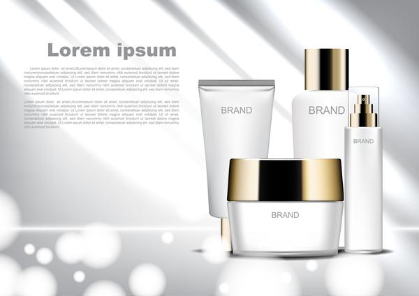 poster lumière cosmétique brillant bokeh blanc