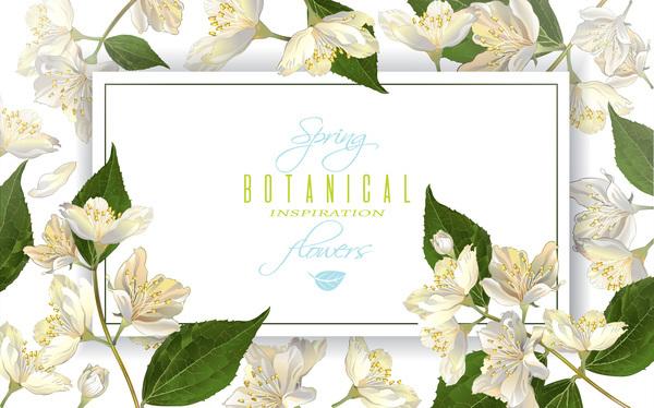 Fiore cornice bianco