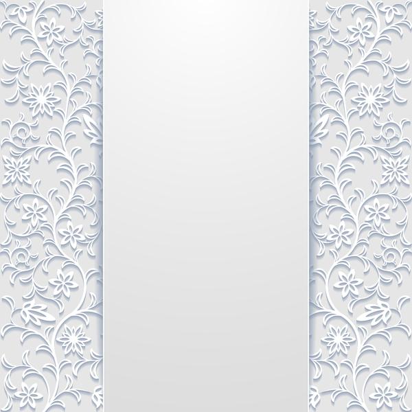 floral creux blanc