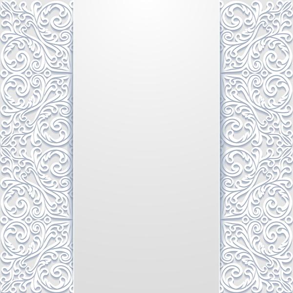 vit ihåliga floral