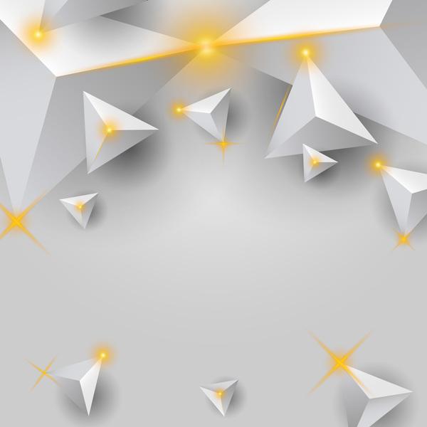triangle lumière étoile blanc