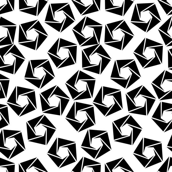 weiß Schwarz nahtlose Muster Geometrie