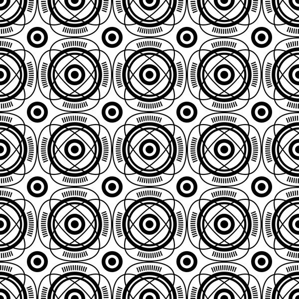 seamless pattern Nero geometria bianco