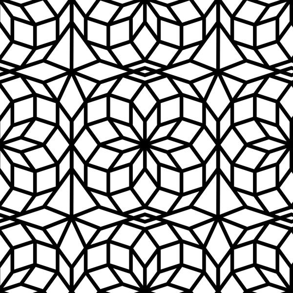 transparent pattern noir Geometrie blanc