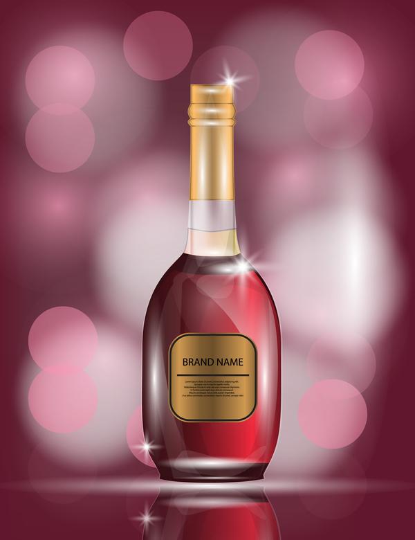 Wein poster Flasche