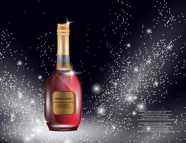 vin flaska affisch