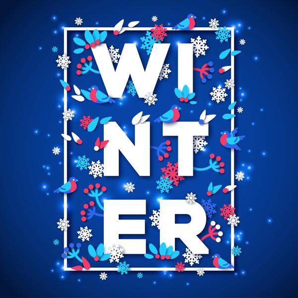 hiver bleu