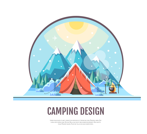 tente hiver camping