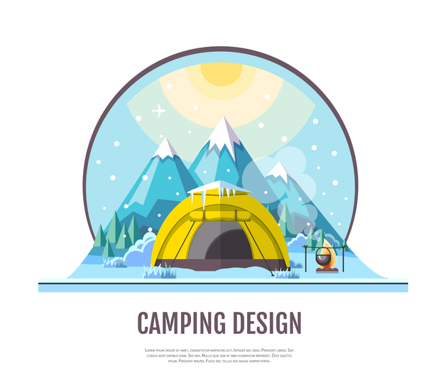 Zelt winter camping