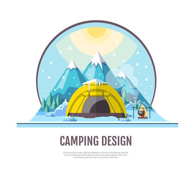 tente hiver camping