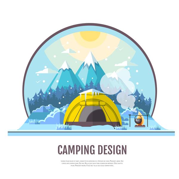 vinter tält camping