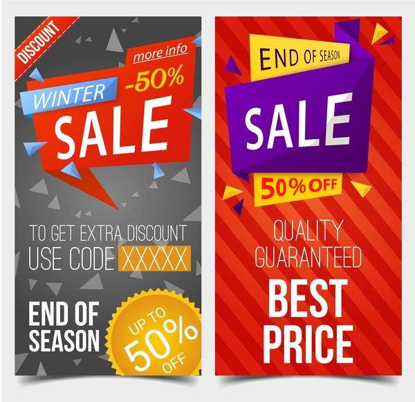 vendita striscioni sconto inverno