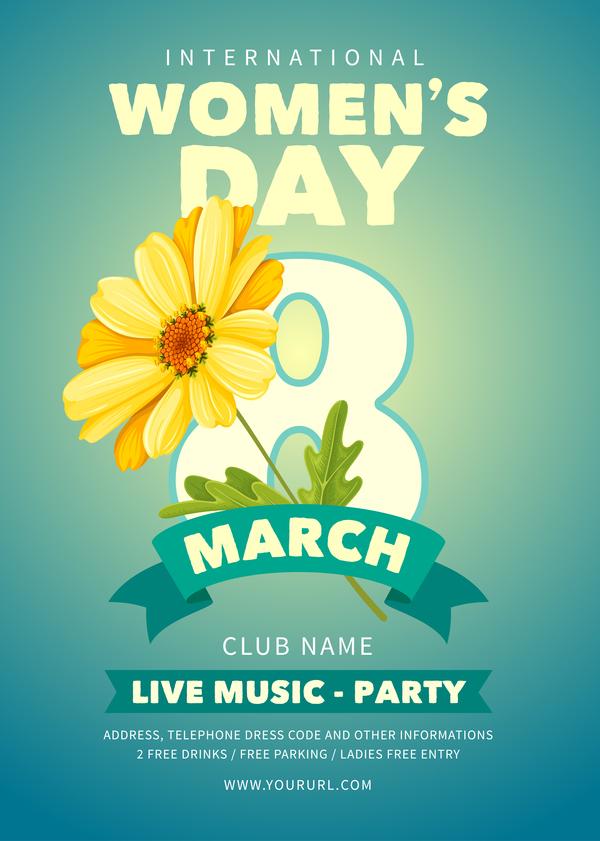 women's parti jour flyer