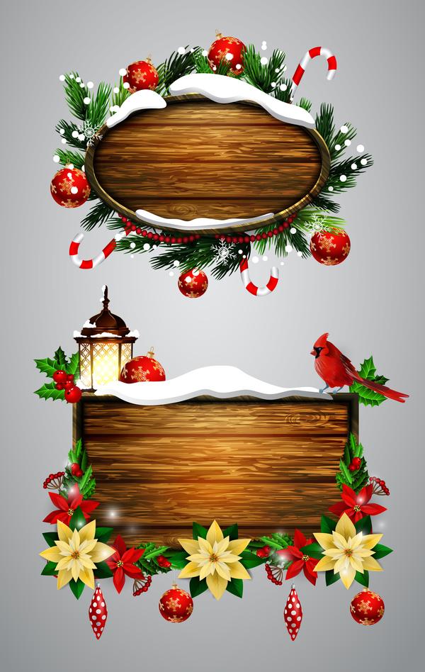 Natale lables in legno