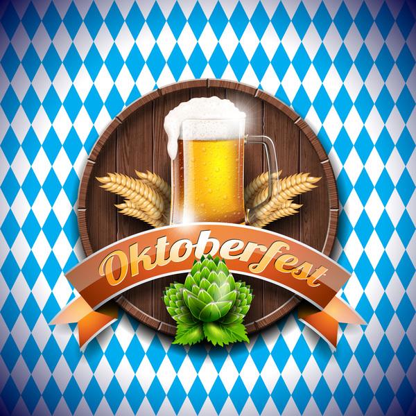 trä Oktoberfest etikett