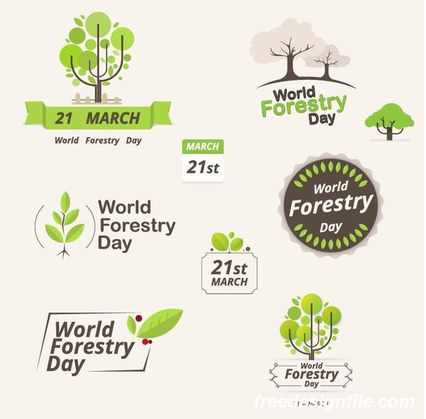 、日、林業、ロゴ、世界