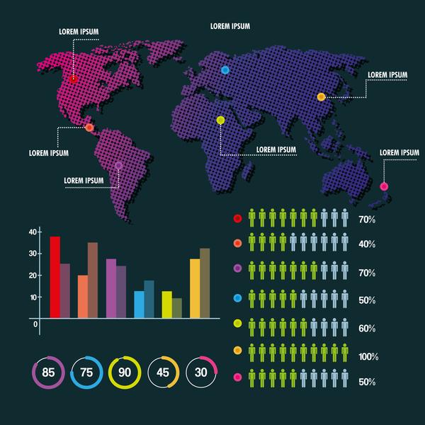 monde infographie