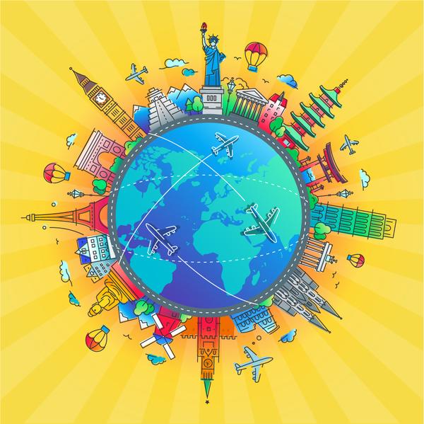 、旅行、世界