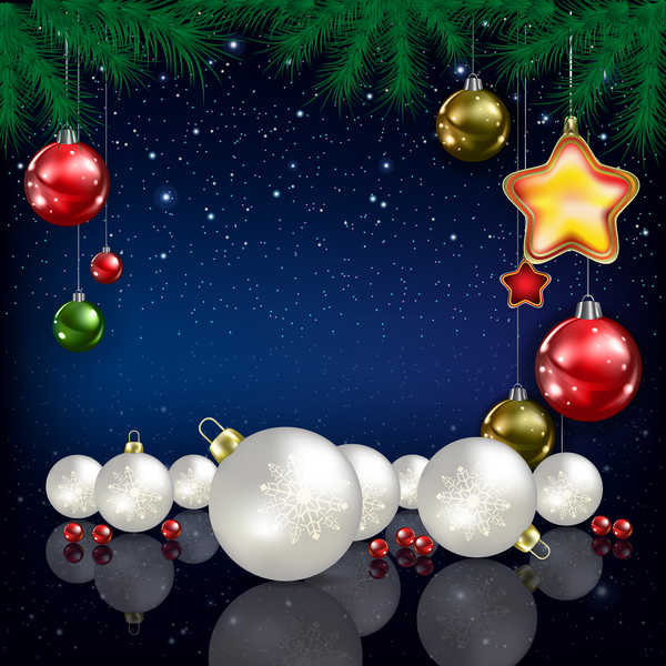 Noel decoration bleu babioles