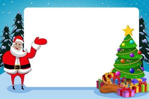 xmas träd santa ram papper jul