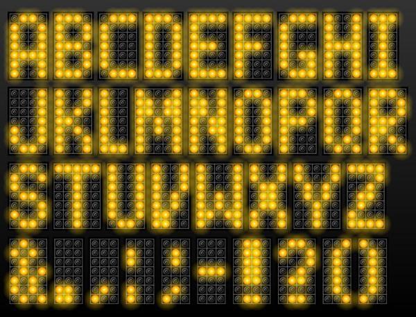 黄色 LED 、アルファベット