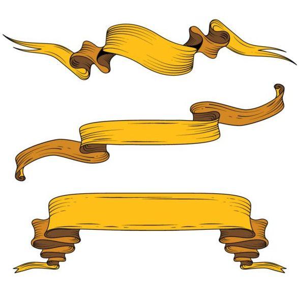 黄色 手 リボン