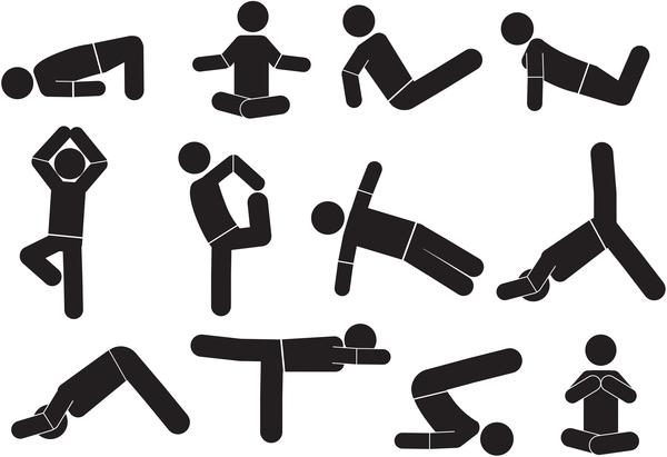 Zeichen yoga pose