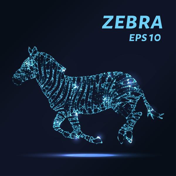 zebra Points lignes