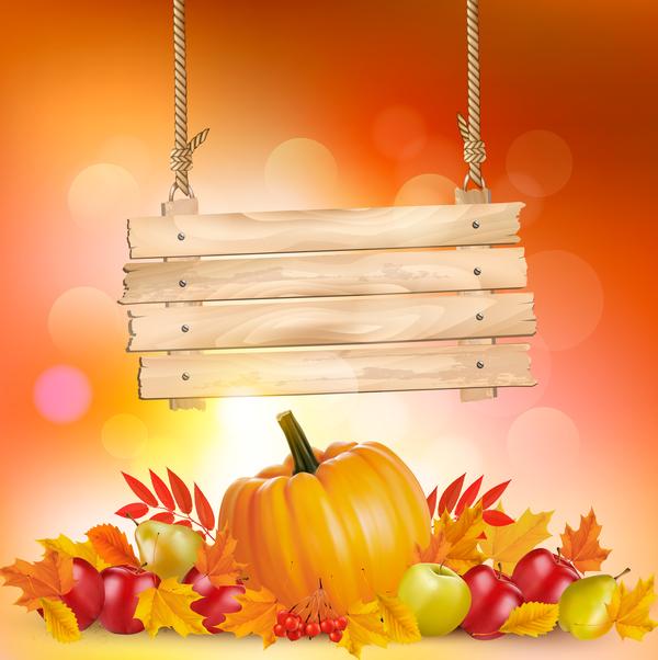 Zeichen Herbst aus Holz