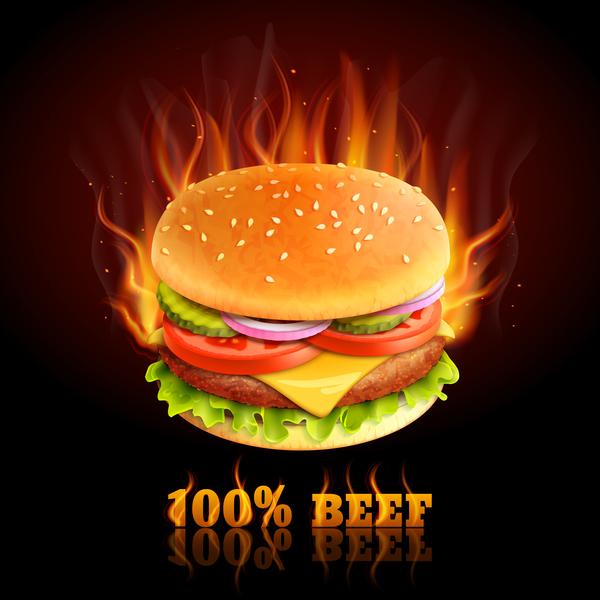 牛肉 ポスター バーガー