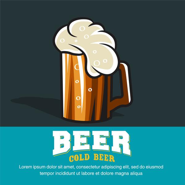 Retro-Schriftart Bier