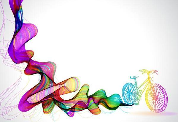 vélo vague colore