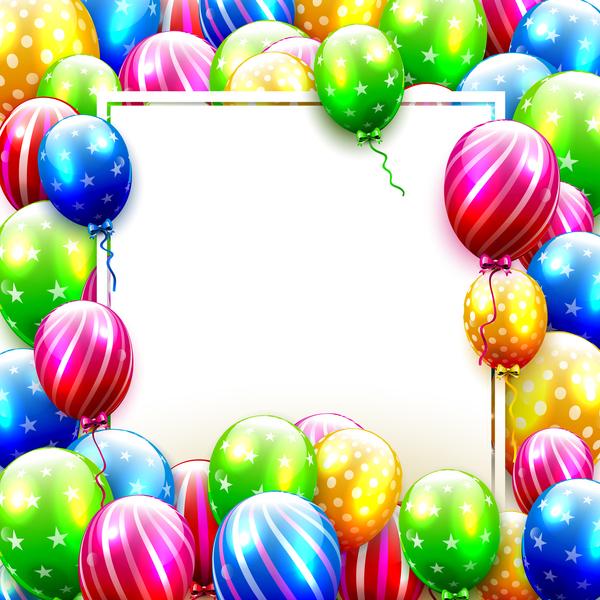 Luftballons Geburtstag full frame