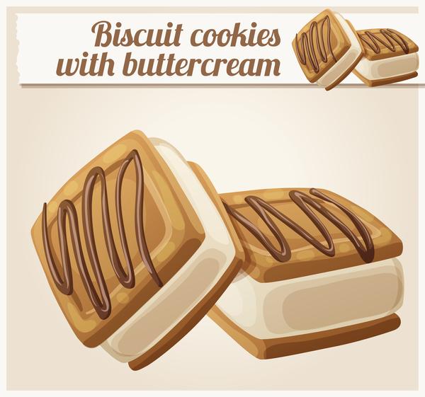 Sahne Kekse Gebäck butter